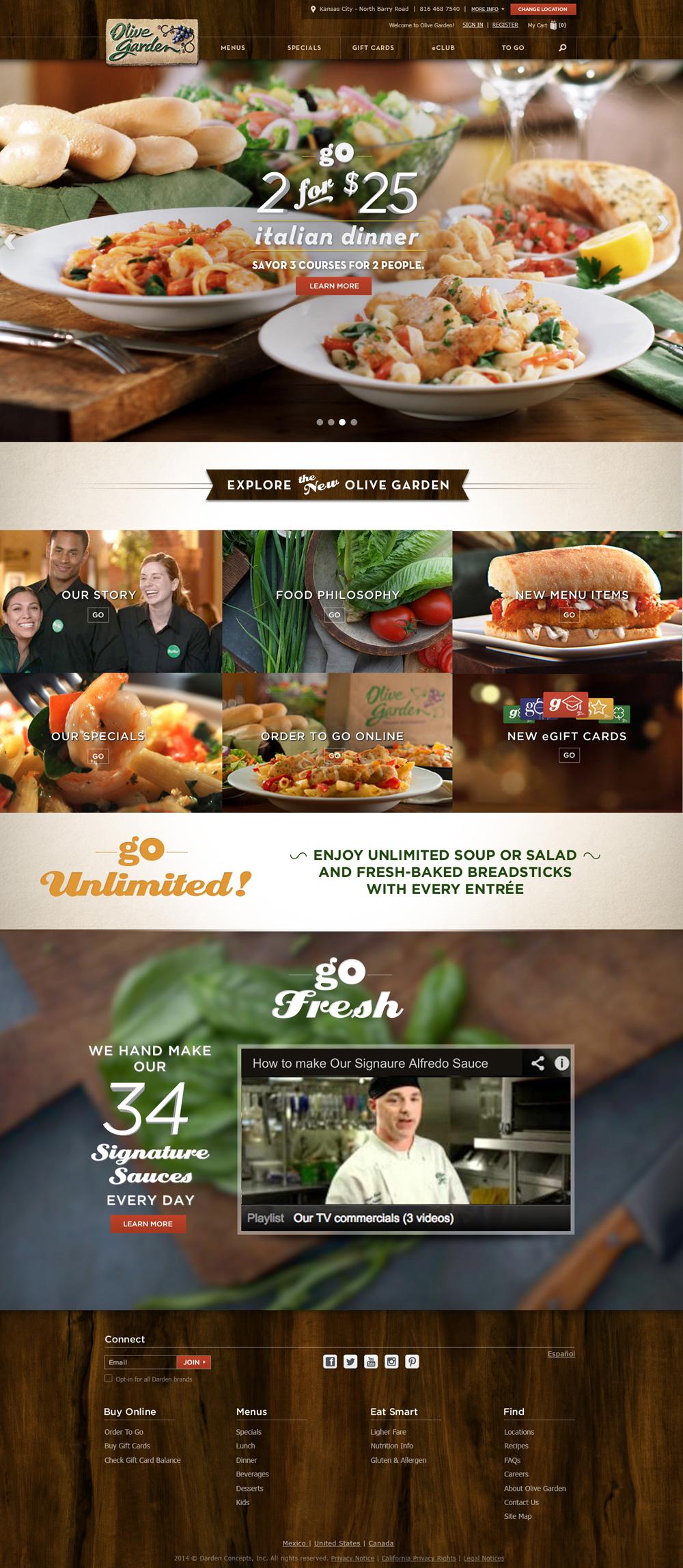 chrisdegnen.com » Olive Garden / Digital Platform